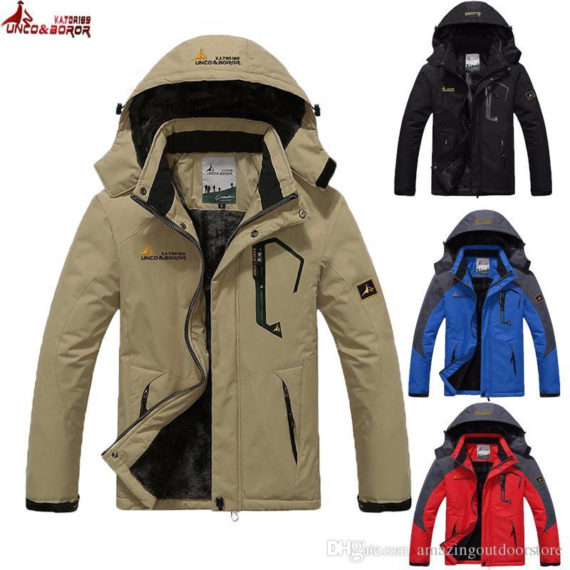 UNCO BOROR Winter Jacket Men Women's Outwear Fleece Thick Warm ...