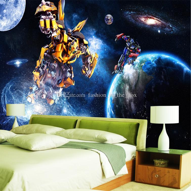 Custom 3d wallpaper for walls galaxy transformers photo for 3d wallpaper for boys