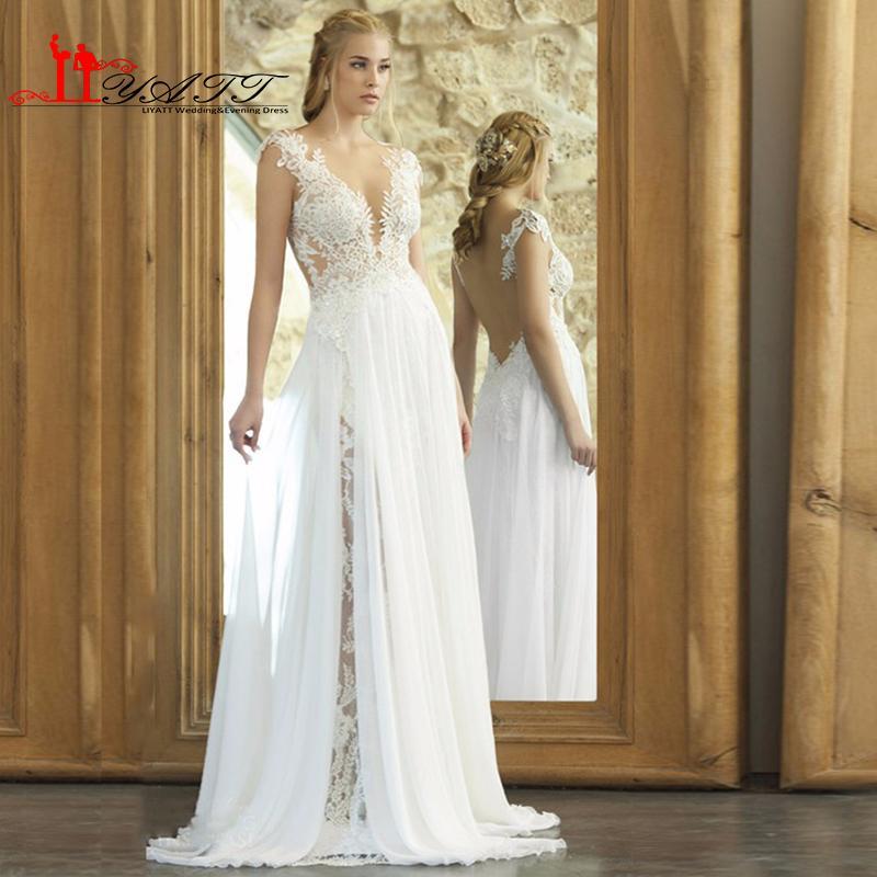 Discount vintage bohemian lace wedding dresses 2016 for Vintage second wedding dresses
