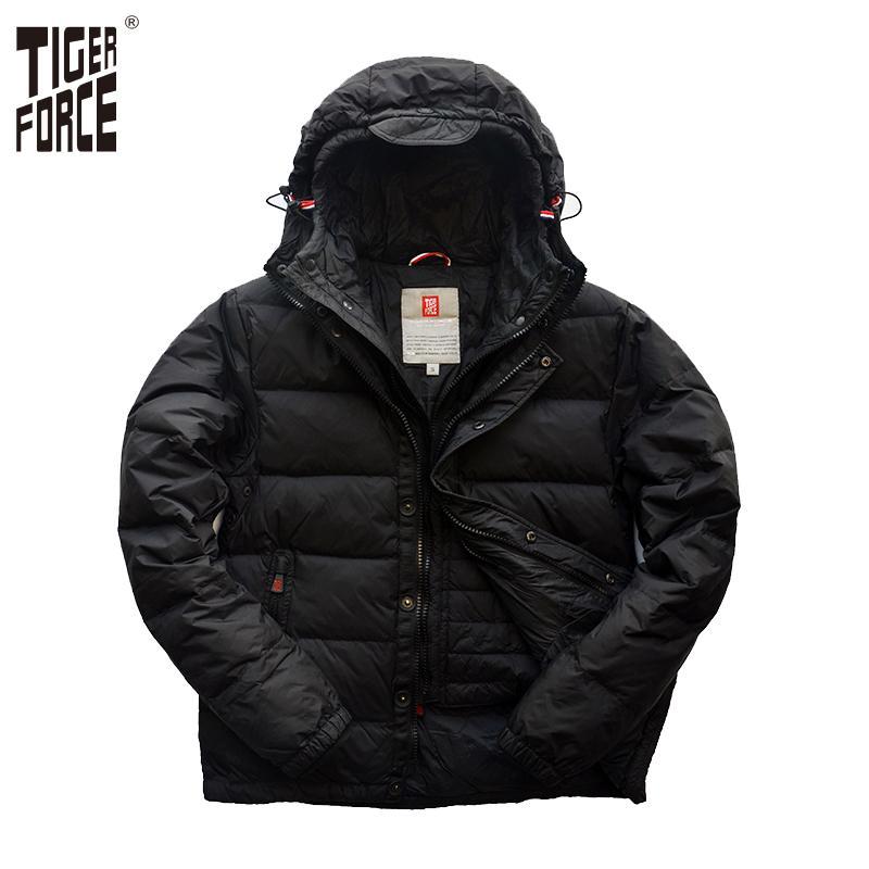 Tiger Force Men Fashion White Duck Down Jacket Brand Down Jacket ...