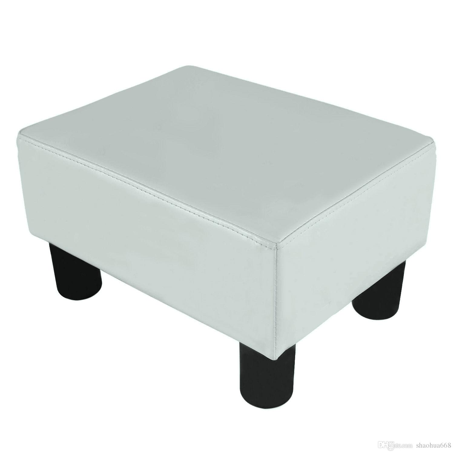 2017 modern faux leather ottoman footrest stool foot rest for 8 foot couch