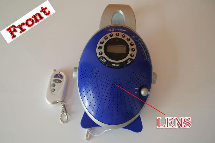 bathroom spy remote control shower hidden radio camera 720p hd