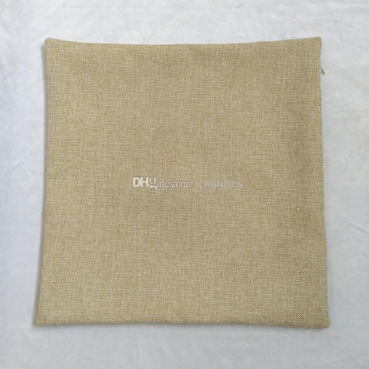 Blank Cushion Cover Linen Cotton Zippered Throw Pillow Case With No Design High Quality Cushions ...
