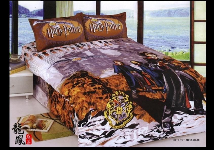 Hot sell harry potter bedding set girls twin full size Whats bigger full or twin