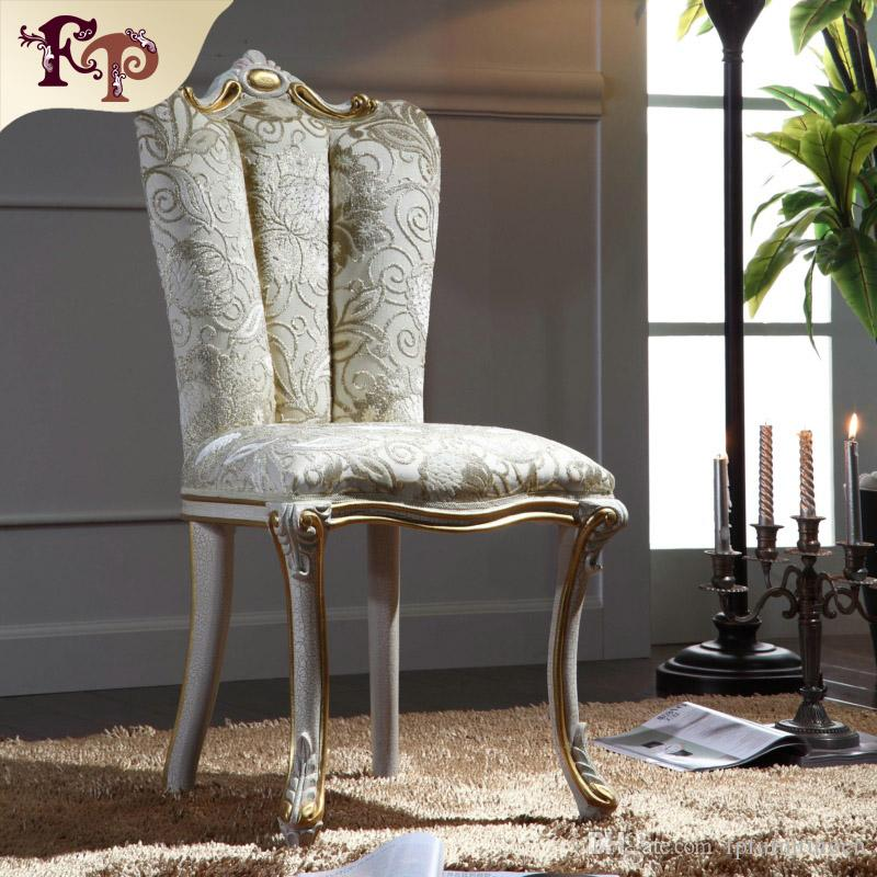 vintage classic solid wood dining chair european palace furniture with cracking paint and gold leaf - Vintage Wooden Dining Chairs