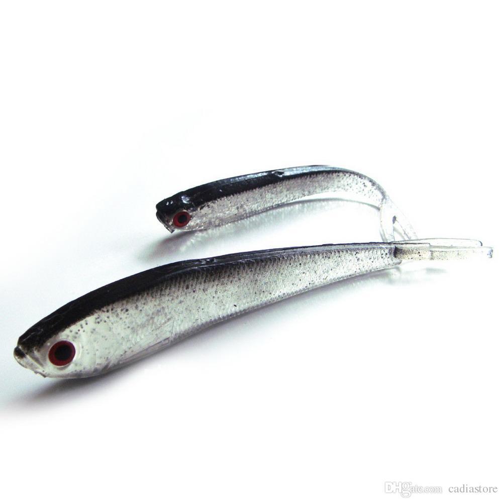 Soft silicone tiddler bait fluke fish saltwater lures for Fluke fishing bait
