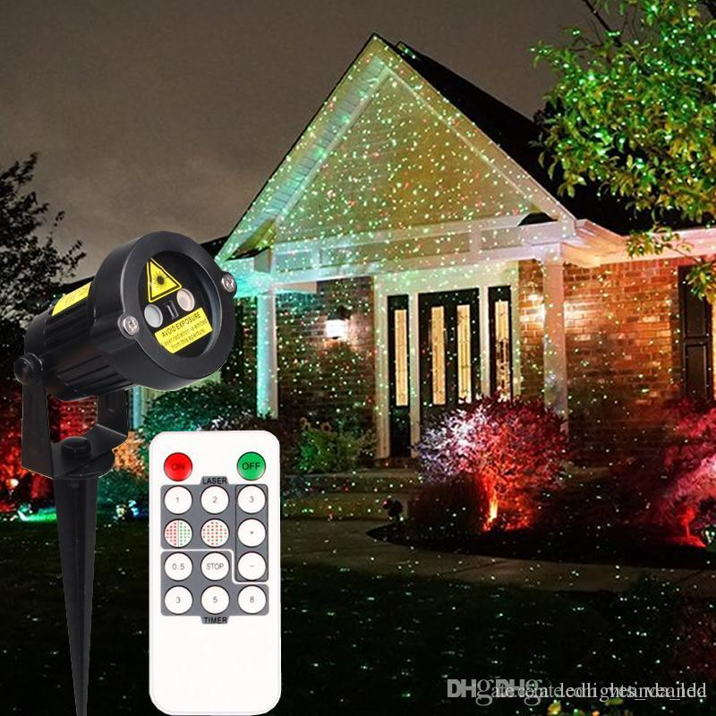 2016 Christmas Laser Garden Lights Decorative Lamp Red And