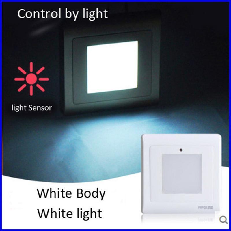 Light Sensor Stairs Wall Light LED Night Lights 1W SMD 2835 Light