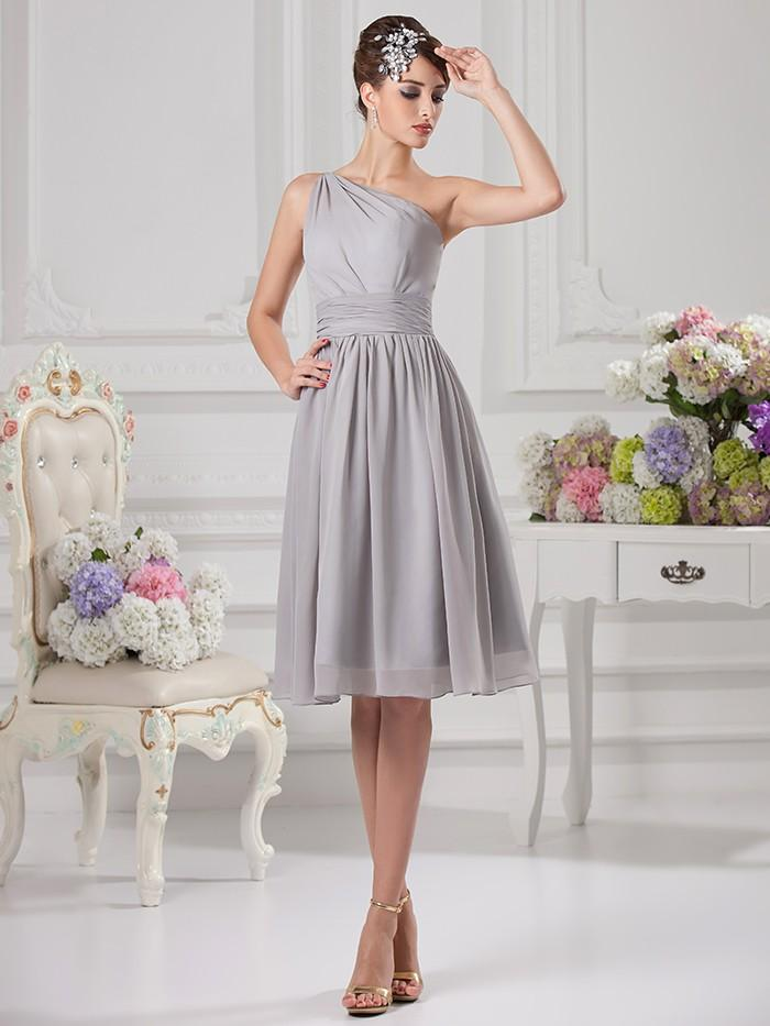 2016 chic summer under 100 bridal casual beach gray knee for Informal wedding dresses under 100