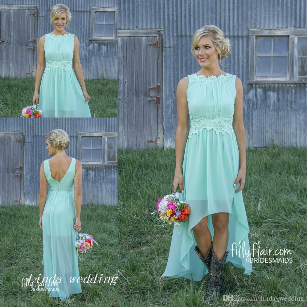Romance high low bridesmaid dress new mint green colour chiffon romance high low bridesmaid dress new mint green colour chiffon zipper maid of honor wedding party gown high low bridesmaid dress online with 58646piece ombrellifo Images