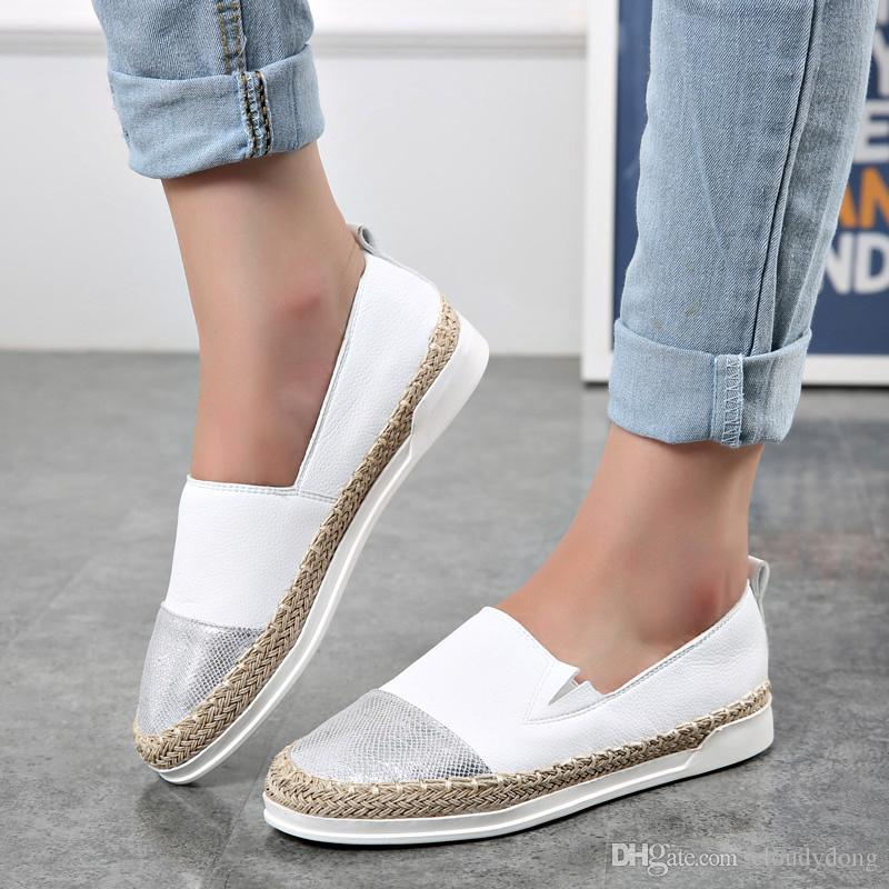 2016 Summer Dress Shoes For Women Flat Heels Fisherman Loafers ...
