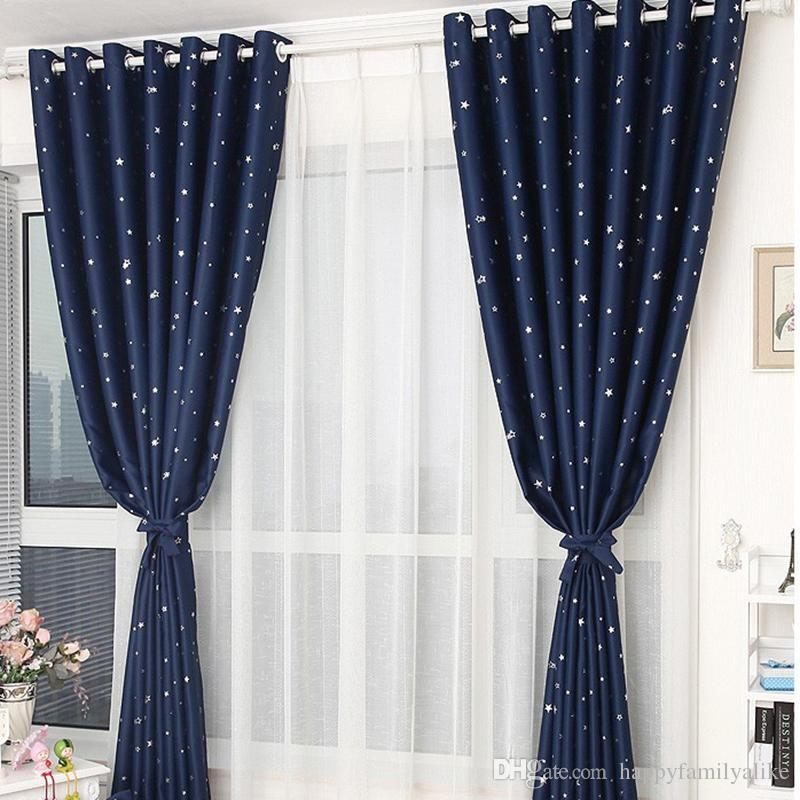 Sheer Blackout Curtains Linen Mixed Woven Gold Jacquard Cloth - Room darkening curtains for kids