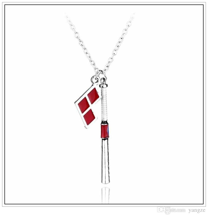 2016 Hot film Suicide Squad Harley Quinn Baseball Bat Collier pendentif Collier