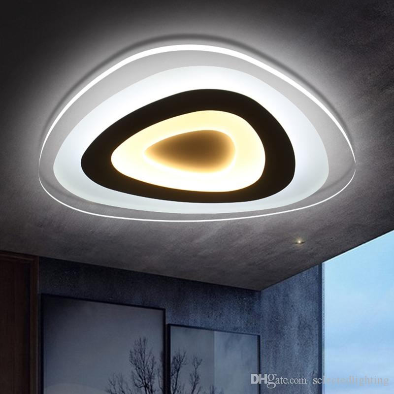 Ultra thin modern ceiling light flush mount light lamparas for Ultra modern light fixtures