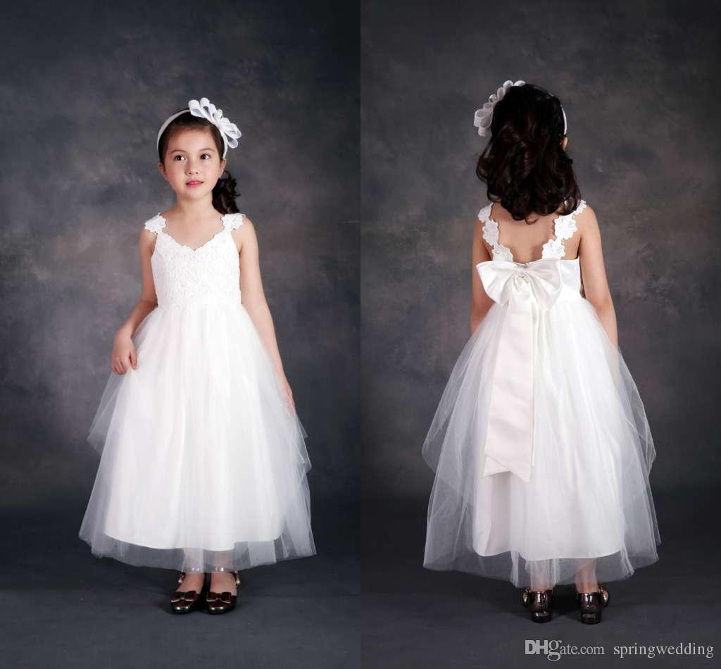 Flower Girl Dress Lace Casual