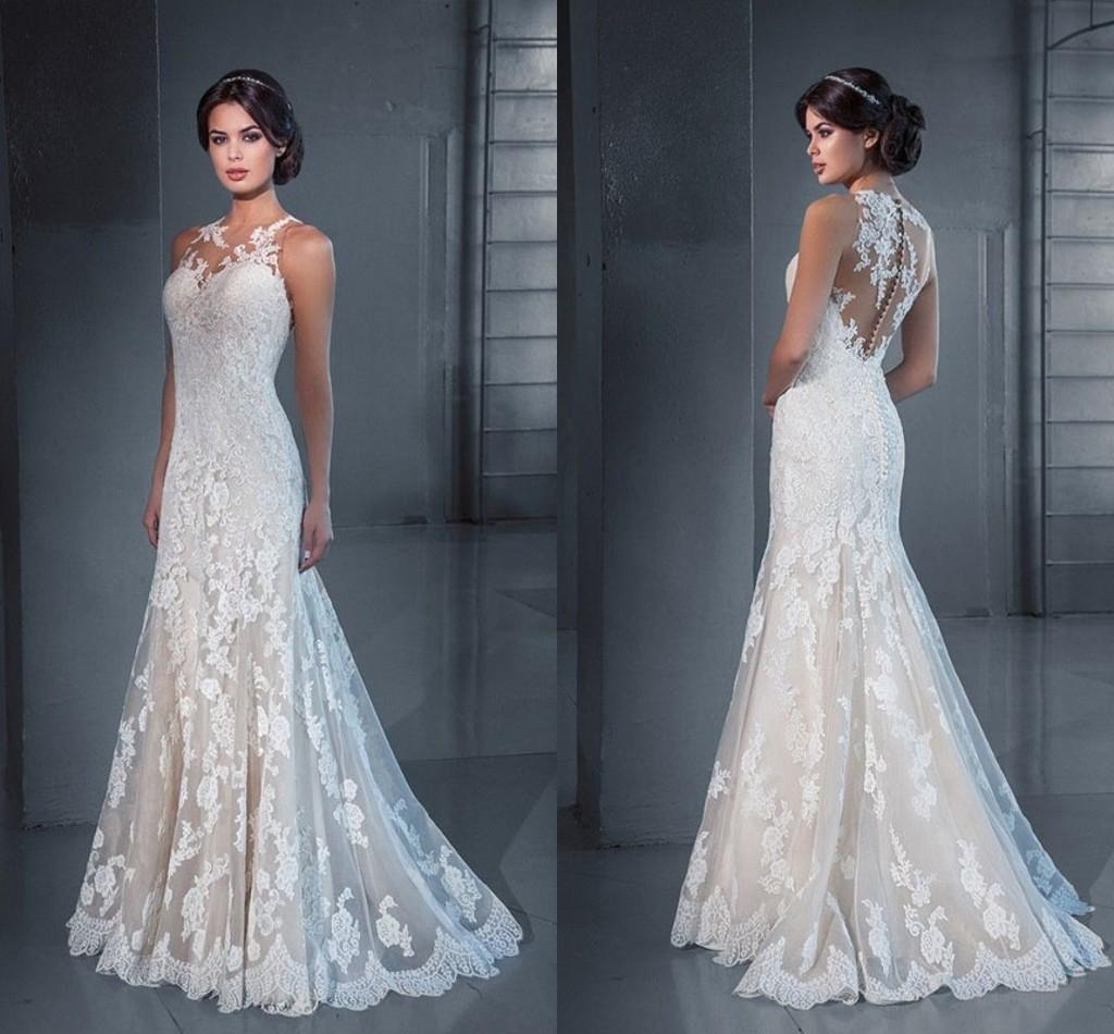 Pnina Tornai Mermaid Lace Wedding Dresses With Appliques