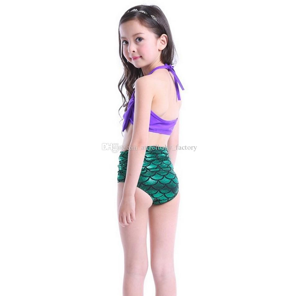 2018 Baby Girls Mermaid Swimwear /Set Children Big Bow ...
