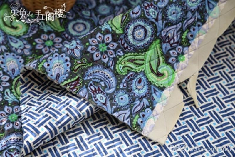 1 meter 100% cotton VB quilting fabric sponge cotton-padded handmade bag, retro sofa, seat cushion wide140cm CR-124a