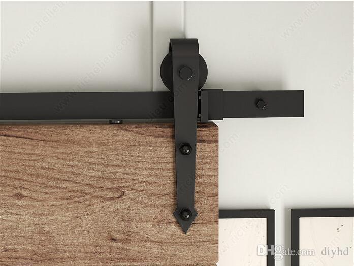 2017 6ft arrow stylish antique black wooden sliding - Puertas correderas interior rusticas ...