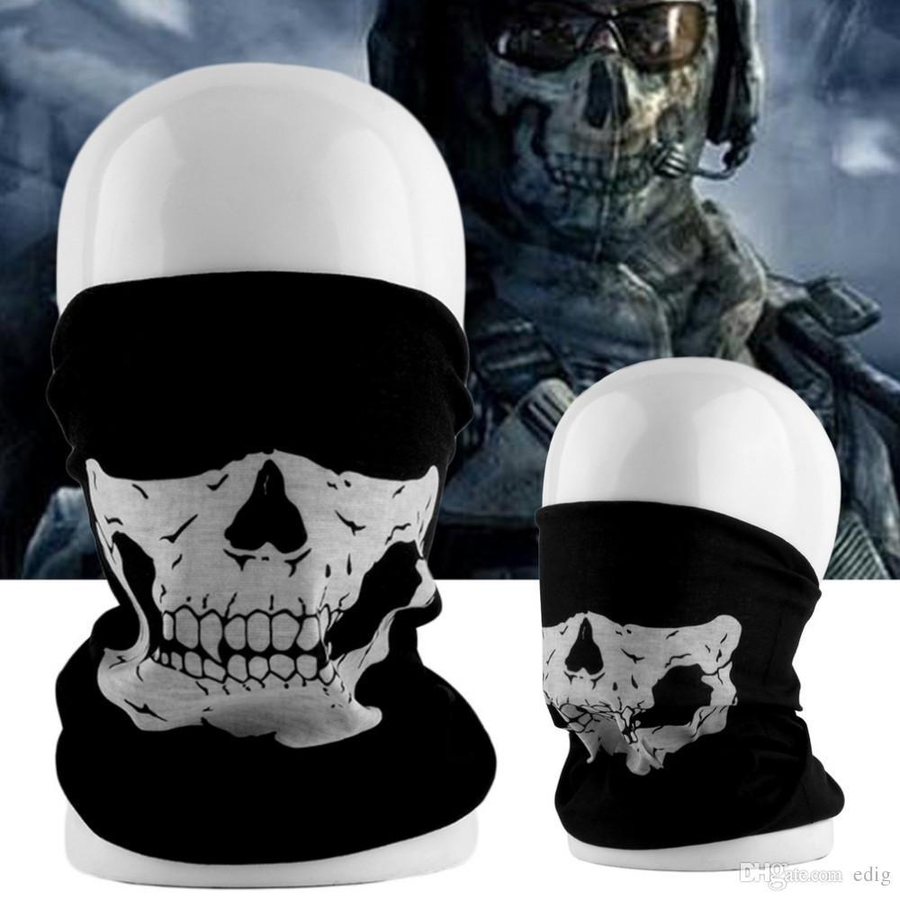 Anti Dust Tubular Skull Ghosts Ghost Mask Bandana Motor Bike Sport ...