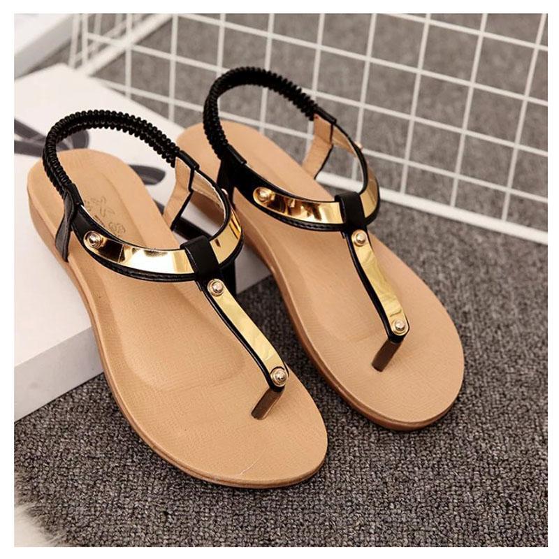 beautiful women sandals 2016 flat sandals women summer