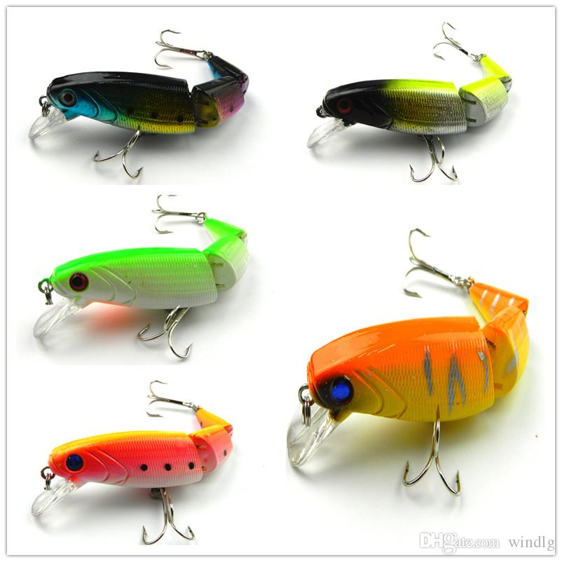 New Minow Lure Plastic 3 Sections Jointed Hard Bait Gear ...