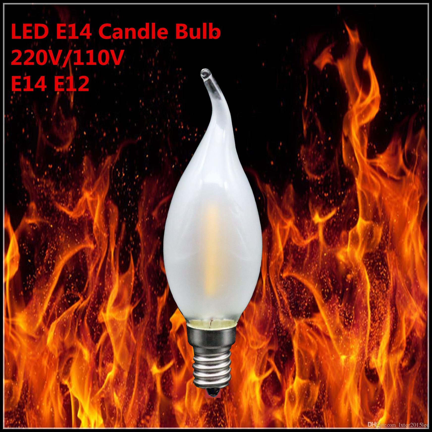 1x led bulb e14 e12 2w 4w 6w dimmable tip retro led filament light ampoule led light bulbs e14. Black Bedroom Furniture Sets. Home Design Ideas