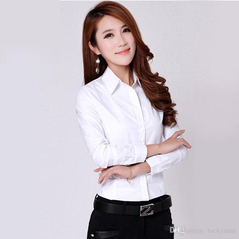 Womens formal white blouse breeze clothing for White shirt for ladies