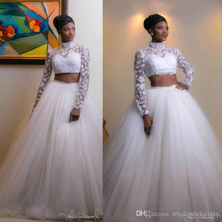 Wedding Dresses 2017 In South Africa : South african arabic high collar wedding dresses