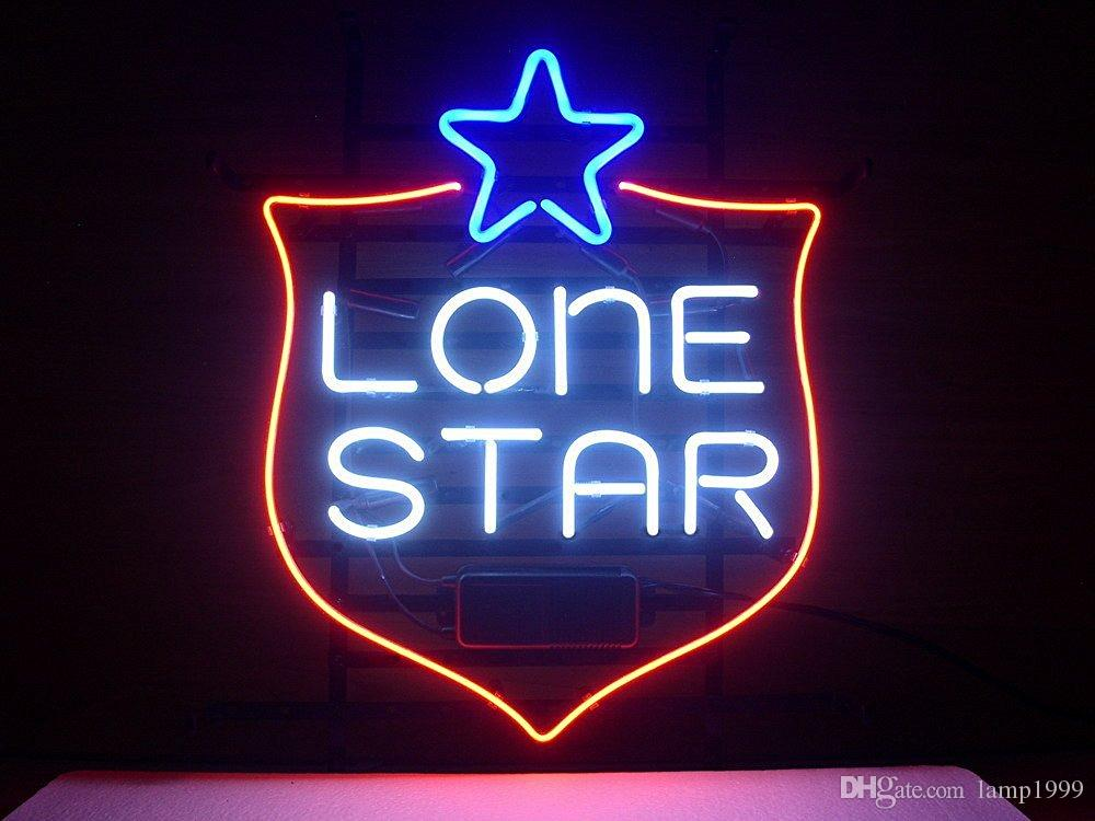 Brand New Lone Star Beer Real Glass Neon Sign Beer Light