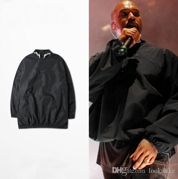 2016 Nylon Kanye West Mens Yeezus Windbreaker Jacket Pullover ...