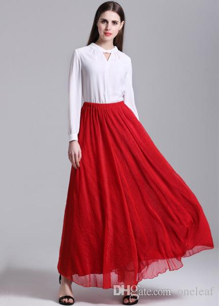 2017 2016 Casual Women Beach Skirt Long Diy Dressing Women Skirts ...