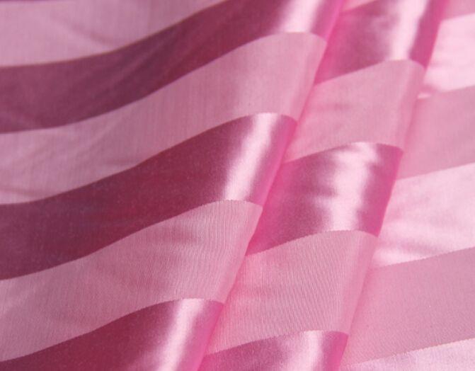 100 pure mulberry silk fabric soft satin pink striped satin silk jacquard scarf skirt dressmaking materials silk clothes fabric yards i188 silk fabric silk
