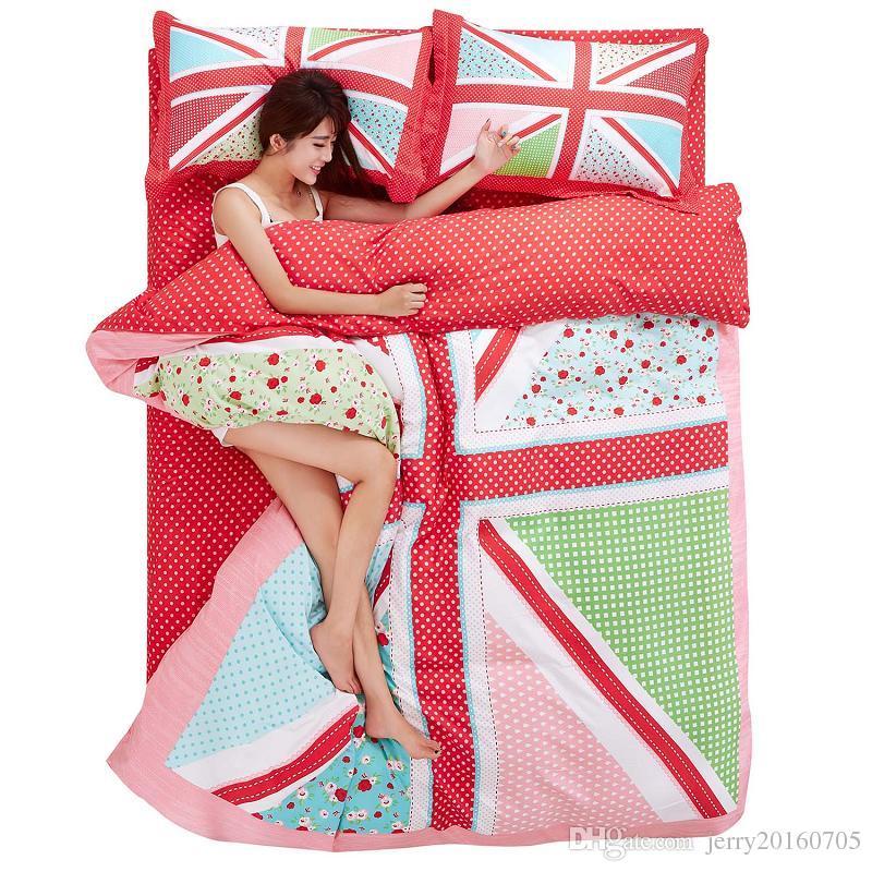 Cotton Bedding Set Uk Word Pattern Bed Sheet Sets King Size 22m