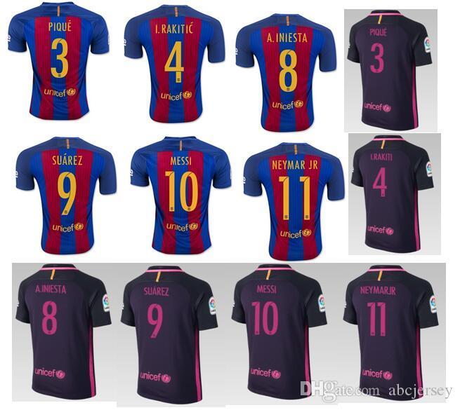 ... 2016 2017 top quality 16 17 men away purple soccer uniforms shirt