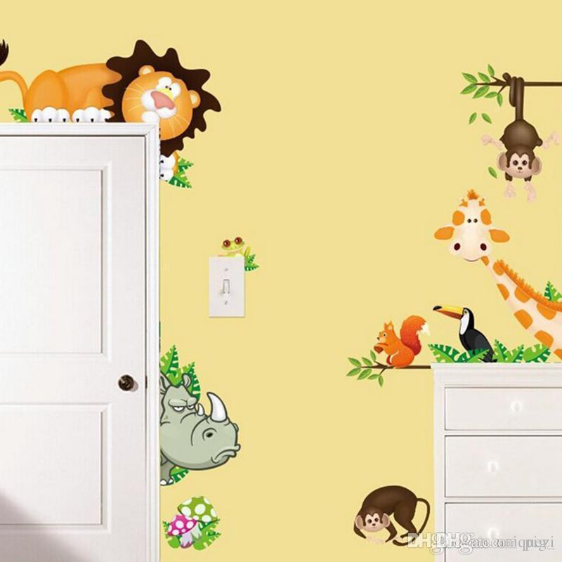 monkey animals removable wall decal stickers for baby