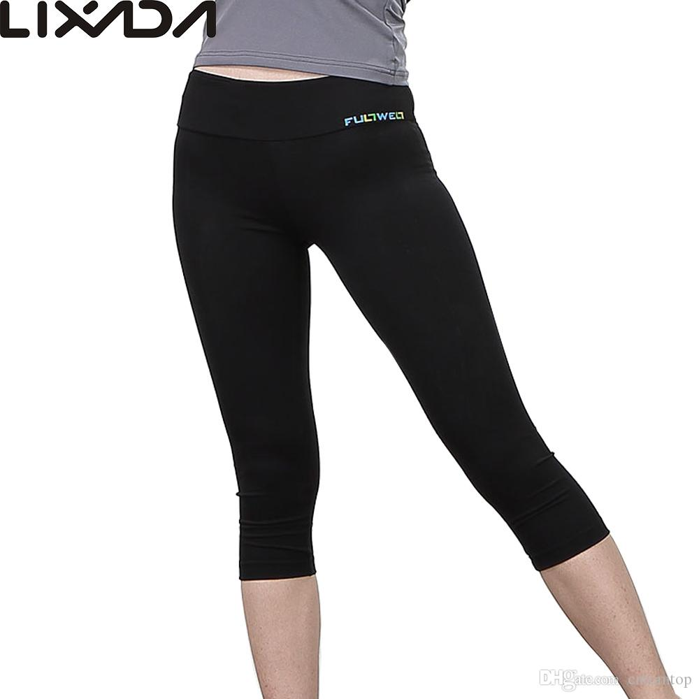 LIXADA Women Tight Yoga Pants Soft Quick-dry Capri Pants Sports ...