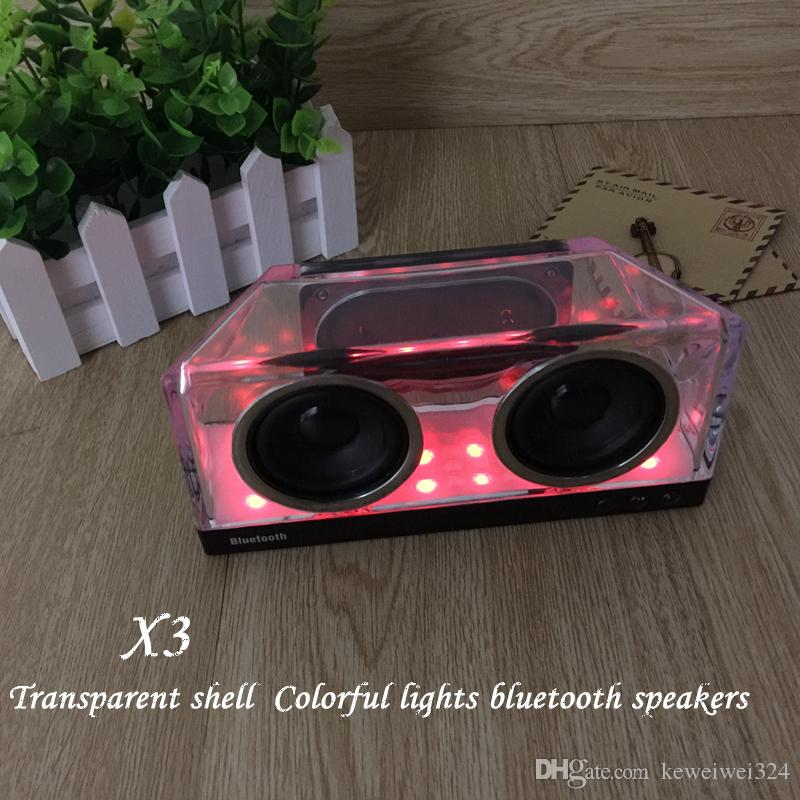 LED Crystal X3 Bluetooth Haut-parleurs Subwoofer Mini Speaker Amplificateur de h