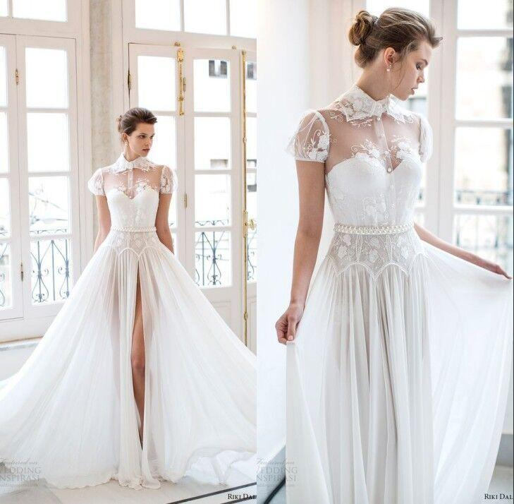 Discount riki dalal bridal 2016 wedding dresses short puff for Puff sleeve wedding dress