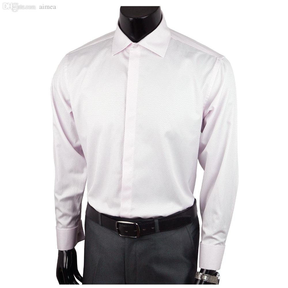 2017 wholesale landisun mens square spread collar 120 39 s for Discount french cuff dress shirts