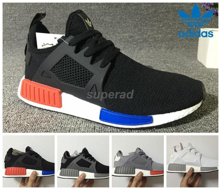 hmonpb 2016 Adidas Nmd Runner Primeknit Xr1 Caged Black Grey Triple White