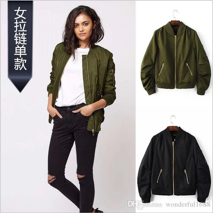 Ladies Bomber Jacket - Coat Nj