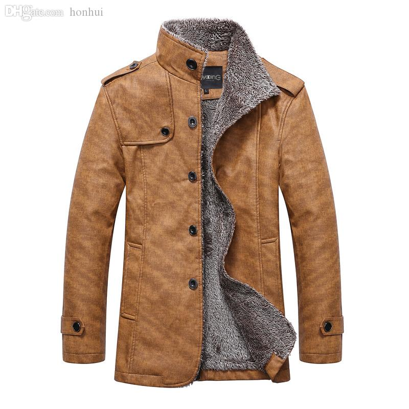 2017 Fall Jj Mens Cheap Leather Coats Good Quality Winter Warm ...