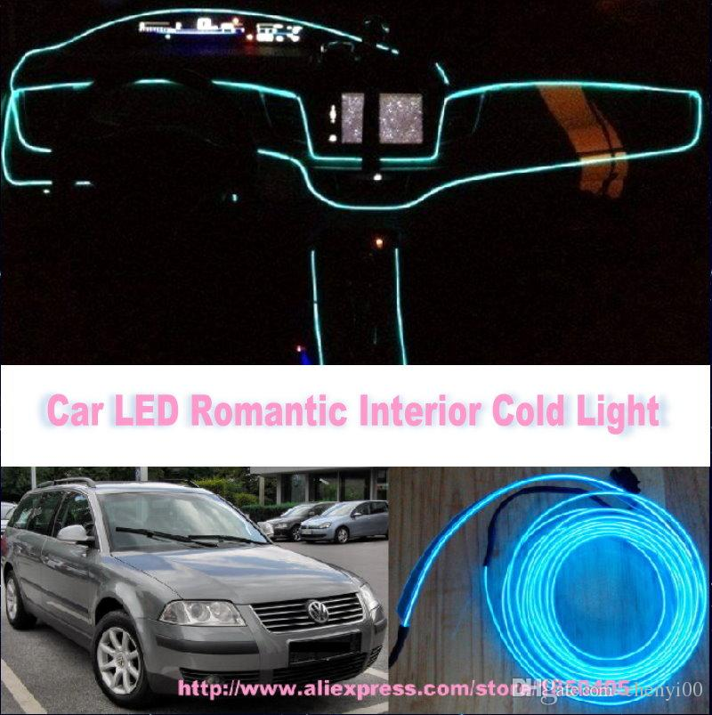 for vw volkswagen passat lingyu diy 9 meters 12v car el cold light led interior lights. Black Bedroom Furniture Sets. Home Design Ideas