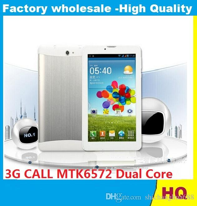 7 pouces 3G phablet Android 4.4 MTK6572 Dual Core 1.5GHz Bluetooth GPS 512MB RAM