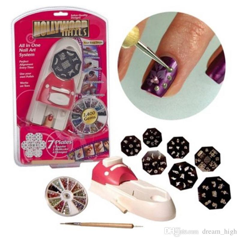 New fashion hollywood nails all in one system nails nail art new fashion hollywood nails all in one system nails nail art system tools set to manicure for nail polish stamping hollywood nails nail art kits online with prinsesfo Gallery