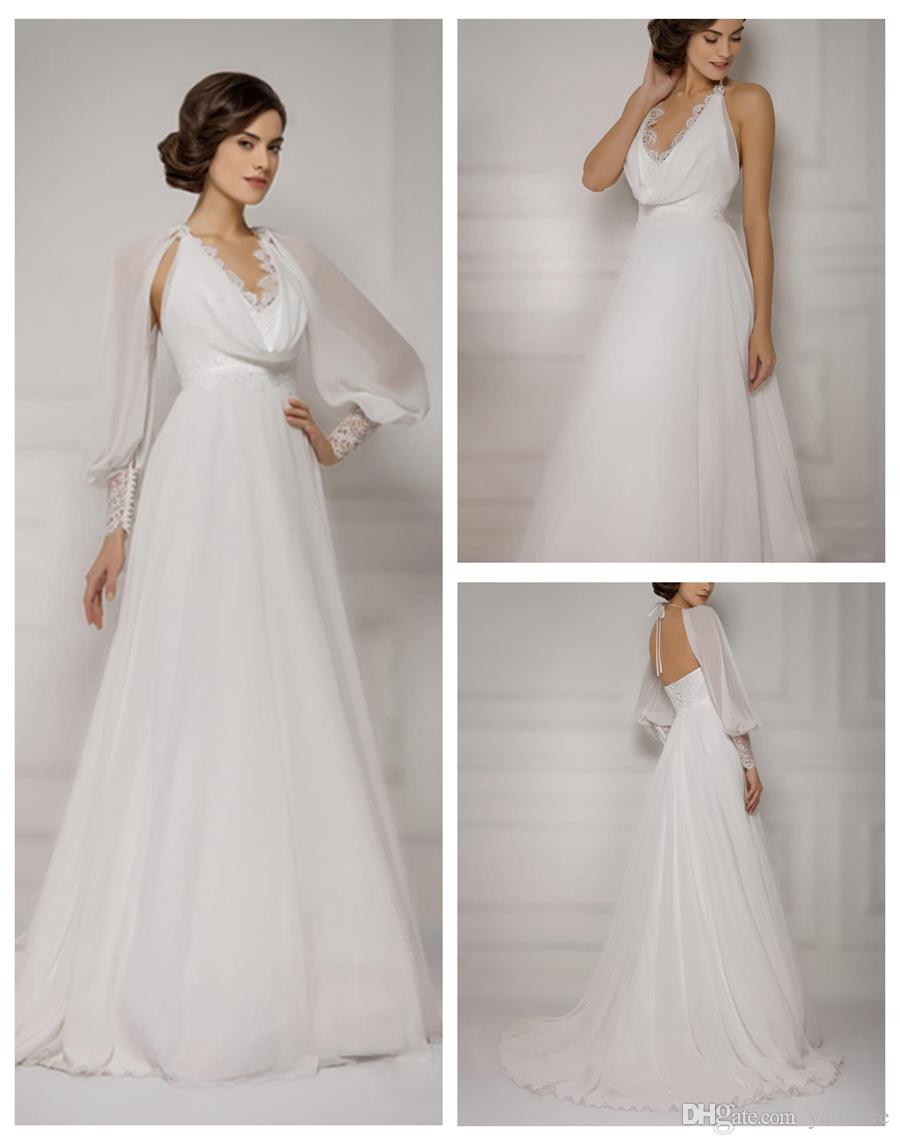 Silk chiffon wedding dresses with sleeves discount for Largest selection of wedding dresses