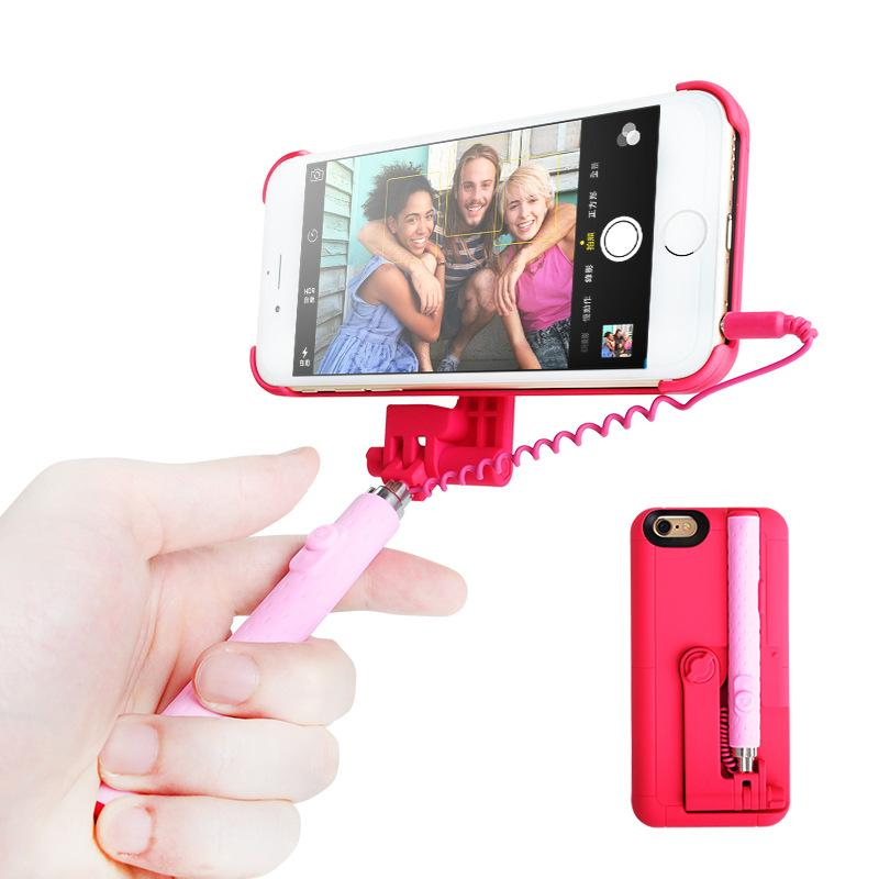 for iphone 6s selfie sticks bluetooth portable extendable monopod wired selfie stick case cover. Black Bedroom Furniture Sets. Home Design Ideas