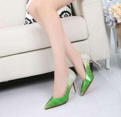 Plus Size 34-42 2016 Fashion Red Bottom Pumps Shoes Women High ...
