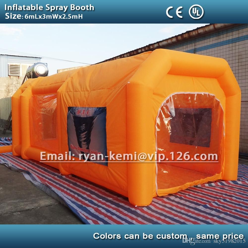Color booth online - 6m Custom Color Inflatable Spray Booth Inflatable Car Spray Booth Inflatable Paint Booth Tent Inflatable Spray Booth Online With 1658 3 Piece On